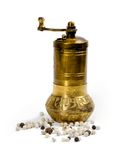 Pepper  grinder and  peppercorn Stock Photography