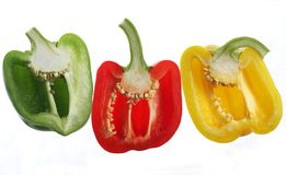 Pepper halves Stock Images