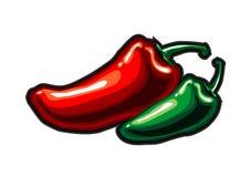 Pepper handmade animaton Royalty Free Stock Photo
