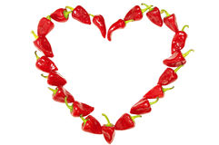 Pepper heart Royalty Free Stock Image