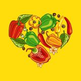 Pepper Heart. Chili Pepper Heart. Passion and Love Symbol Royalty Free Stock Photography