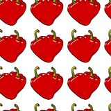 Pepper heart seamless vector Stock Image