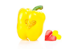 Pepper with a heart-shaped Royalty Free Stock Image