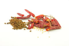 Pepper and hot pepper Royalty Free Stock Photography