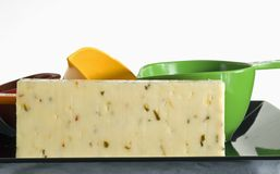 Pepper jack slab Stock Photos