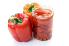 Pepper in jar Stock Photos