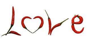 Pepper Letter LOVE Stock Photo