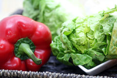 Pepper and lettuce Stock Photos