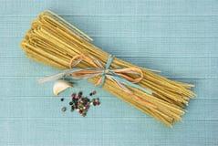 Pepper Linguine & Garlic Stock Photos