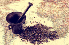 Pepper and map Royalty Free Stock Photography