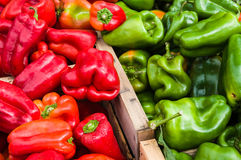 Pepper in a market in Provence. Colored Pepper in a market in Provence, France Royalty Free Stock Image