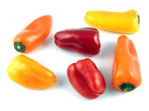 Pepper medley. Miniature bell peppers stock image