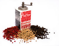 Pepper mill Royalty Free Stock Image