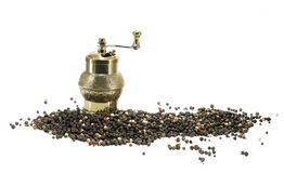 Pepper mill on white Stock Photo