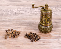 Pepper and mill Stock Images