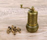 Pepper and mill Royalty Free Stock Photography