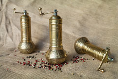 Pepper mills Stock Images