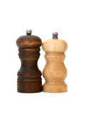 Pepper Mills On White Stock Photo