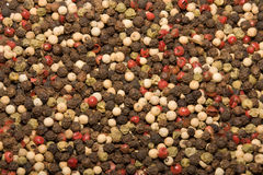 Pepper mix. Mix of three kinds of pepper background stock photography