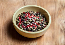 Pepper mix in the bowl Royalty Free Stock Photography