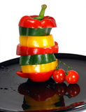 Pepper Mix And Cherry Tomato Royalty Free Stock Images