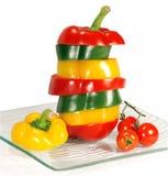 Pepper Mix And Cherry Tomatos Stock Photos