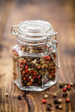 Pepper mix. In a jar Royalty Free Stock Images