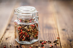 Pepper mix. In a jar Royalty Free Stock Photography