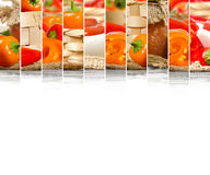 Pepper Mix Slices Stock Photos