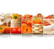 Pepper Mix Slices Stock Photography