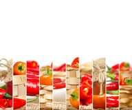 Pepper Mix Slices Stock Images