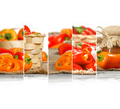 Pepper Mix Slices Stock Image