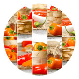 Pepper Mix Slices Royalty Free Stock Photos