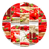 Pepper Mix Slices Royalty Free Stock Photography