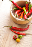 Pepper in mortar Stock Photography