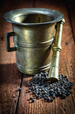 Pepper and mortar Stock Photography