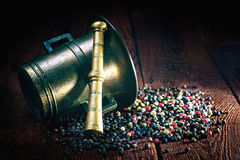 Pepper and mortar Royalty Free Stock Images