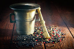 Pepper and mortar Stock Photo