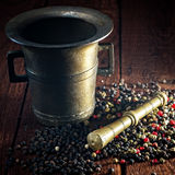 Pepper and mortar Royalty Free Stock Photography
