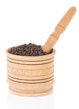Pepper in mortar and pestle Royalty Free Stock Photo