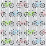 Bicycle seamless pattern Stock Image