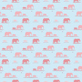 Elephants wallpaper pattern Stock Photos