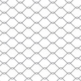Chain link fence. Metal chain link fence seamless on white Stock Photos