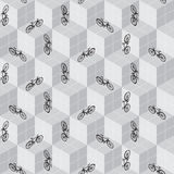 Bicycle seamless pattern Royalty Free Stock Photo
