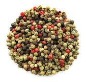 Pepper multicolor whole seeds Stock Images