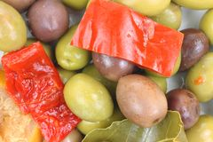 Pepper Olives up Close Royalty Free Stock Images