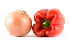 Pepper and Onion Stock Photography