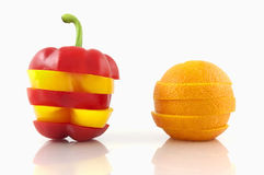 Pepper and orange Royalty Free Stock Image