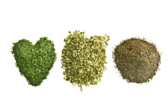 Pepper, oregano, parsley Royalty Free Stock Photo