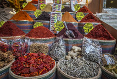 Pepper and other spices at Egyptian Bazaar, Istanbul, Turkey Royalty Free Stock Image